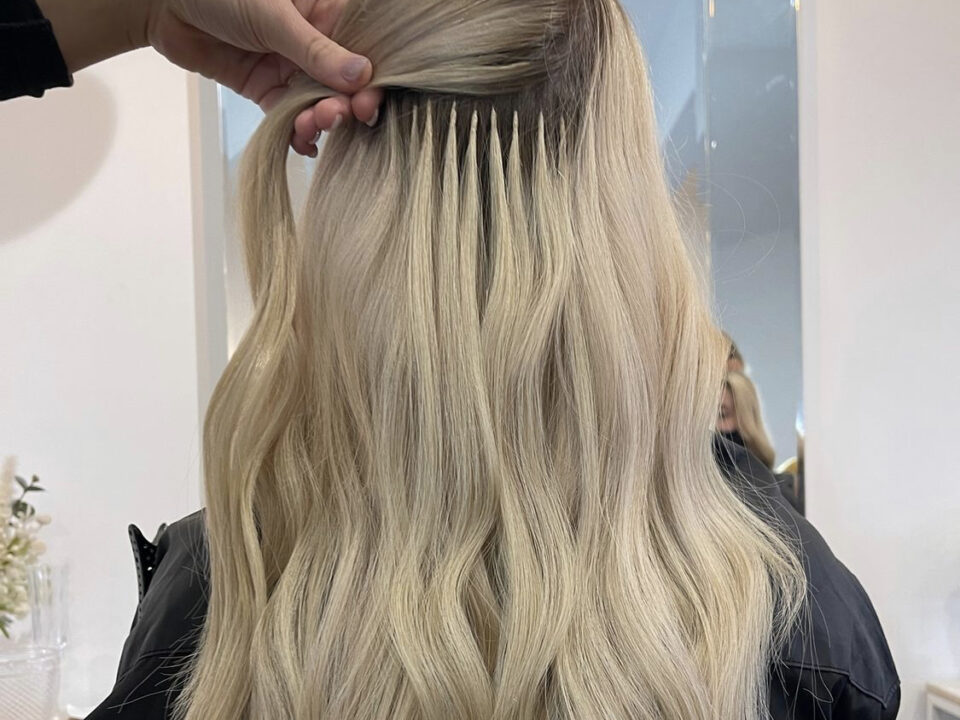 cutting colouring hair extensions